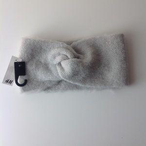 H&M-Light gray headband ear muffs